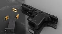real pistol battlefield 3d model
