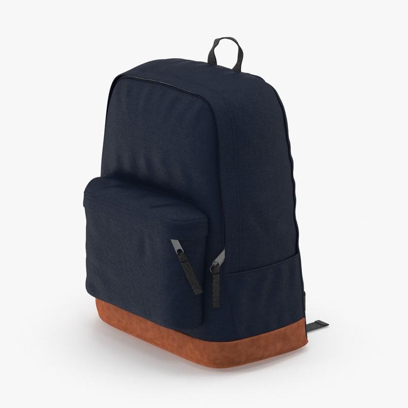 3d backpack dark blue