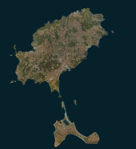 3d model mesh ibiza island