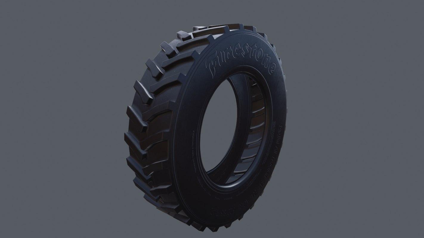 3d model tractor tire