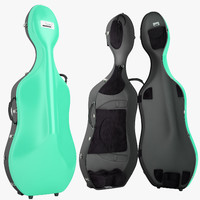 3d bam cello case model