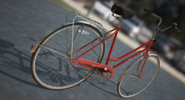 vintage bicycle obj