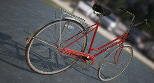 vintage bicycle obj