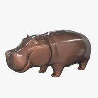 3d figure hippo