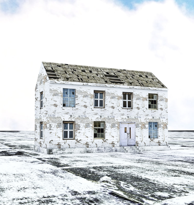 old abandoned house low-poly max free
