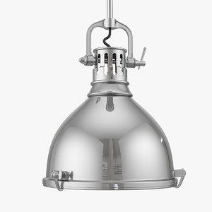 3d model of hudson valley pelham pendant lights