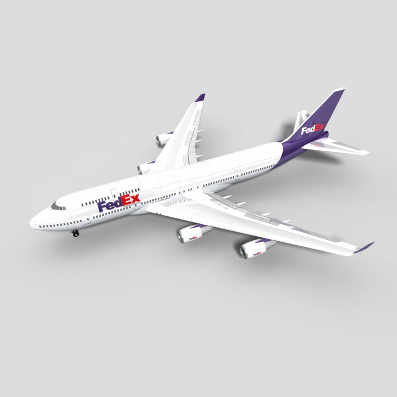 3d 747-400 airliner freight