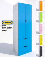 3d ikea stuva storage cabinet model
