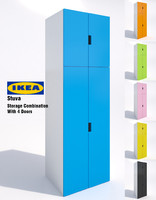 3d model ikea stuva storage cabinet