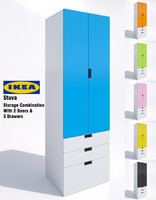 ikea stuva storage cabinet 3d model