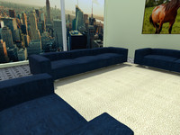 Dark Blue Furniture Sets