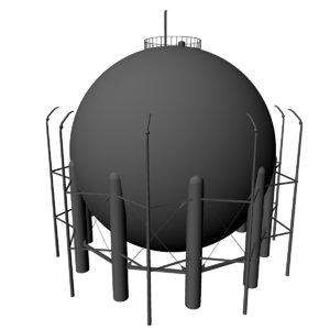liquid oxygen tank lox 3d model