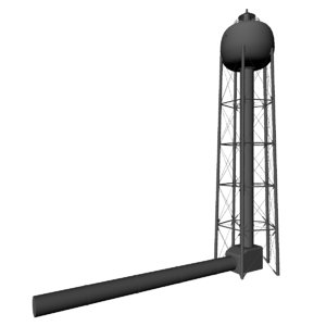 water tower launch site 3d ma