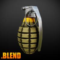 3d model grenade 2