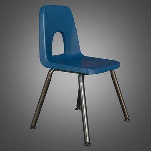 student school chair - 3d fbx