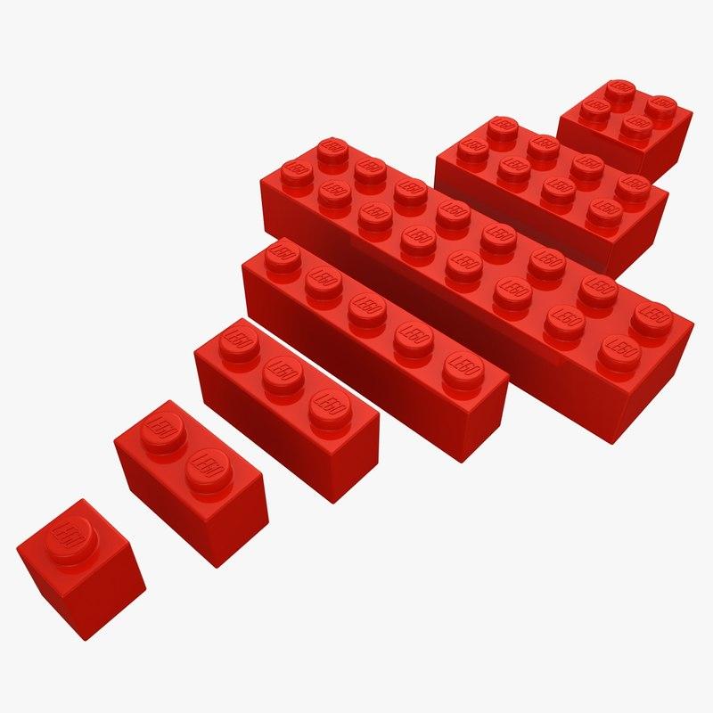realistic lego bricks set max
