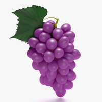 3d purple grapes model