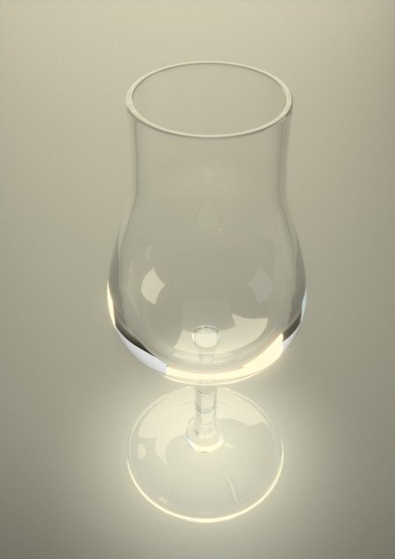 3d armagnac glass glassware model
