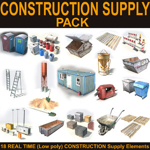 construction supply 3d max
