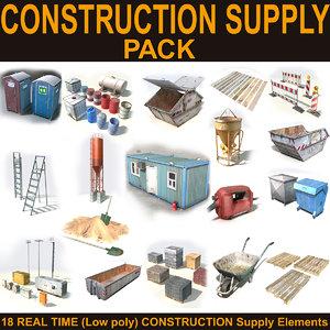 construction supply 3d max