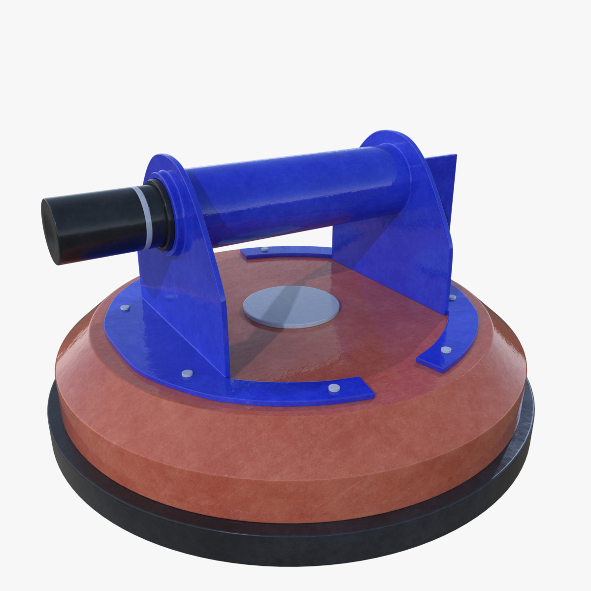 3d glass suction cup model