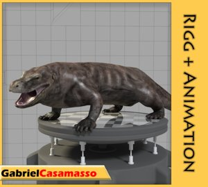 3d komodo dragon model