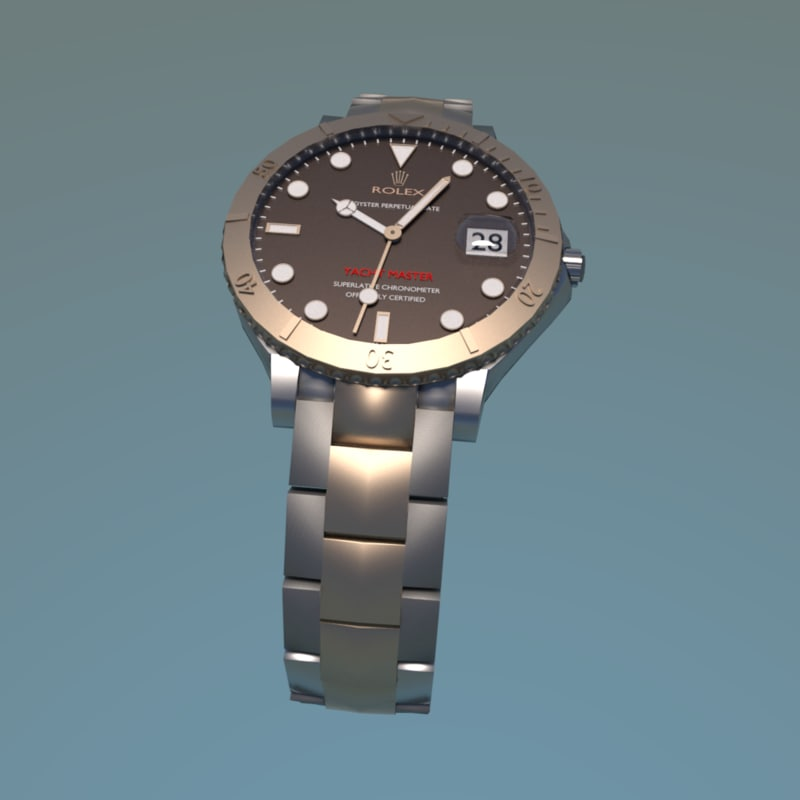3d model realistic rolex yacht master