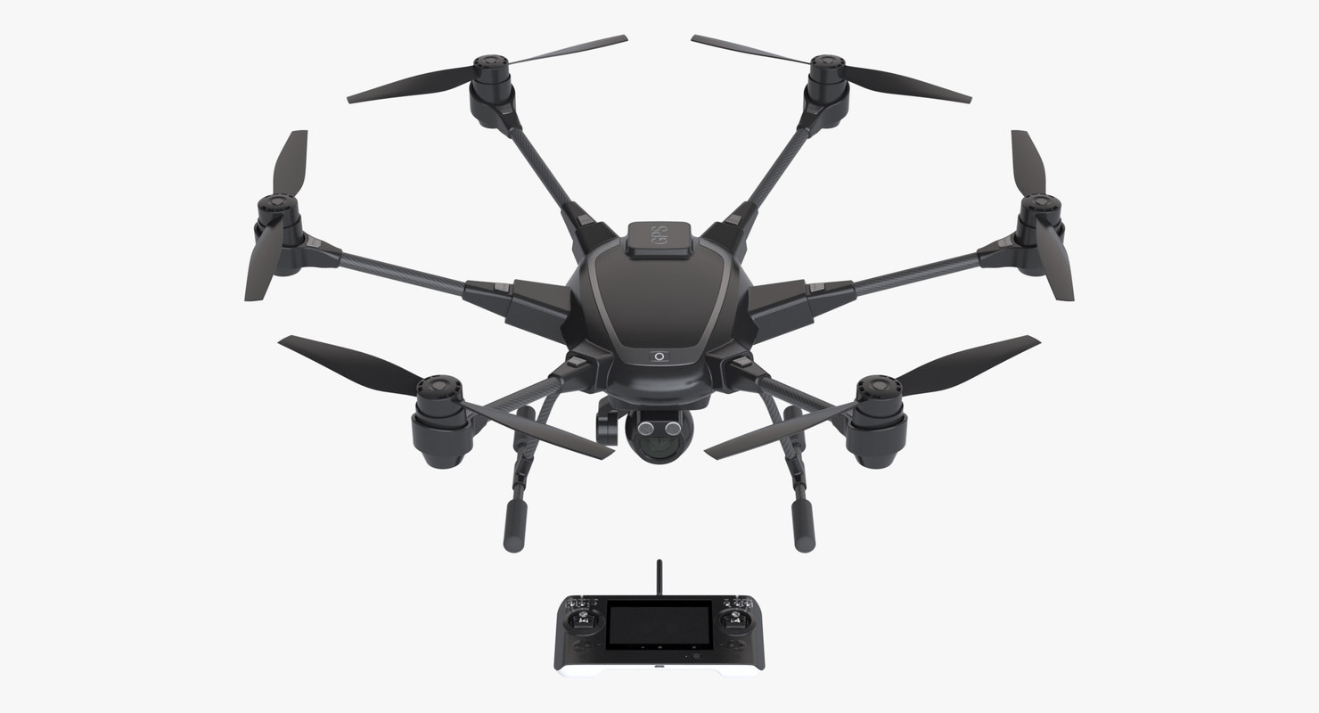 photoreal hexacopter drone 3d max