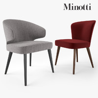 minotti aston dining chair 3d model