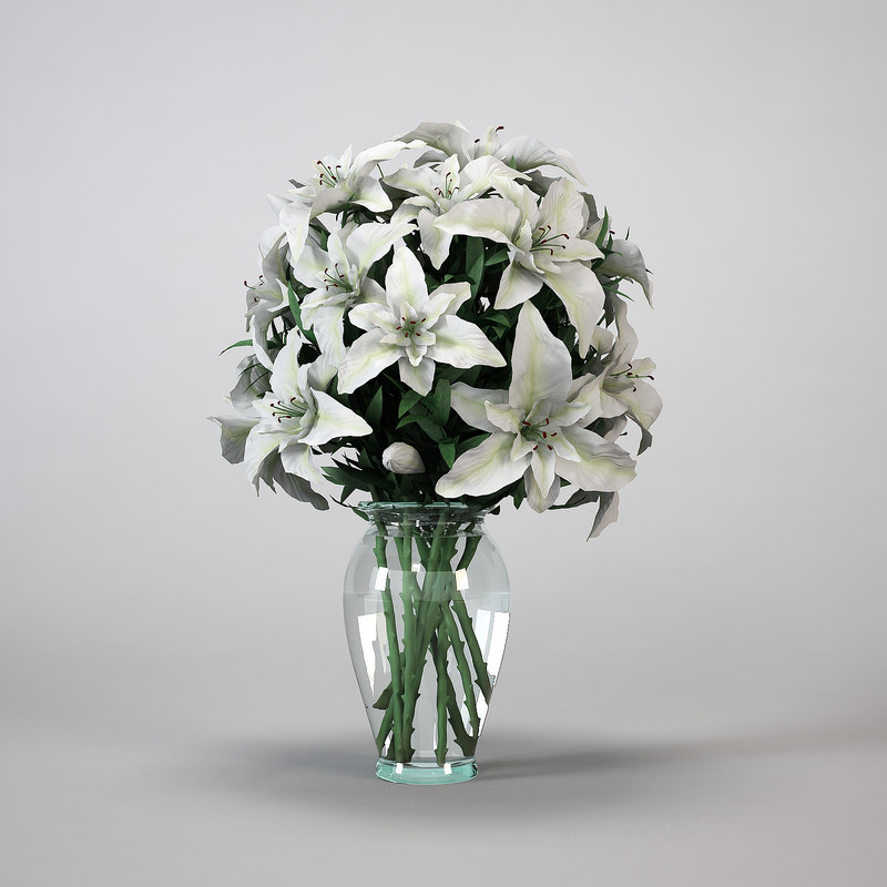 flowers bouquet 3d model