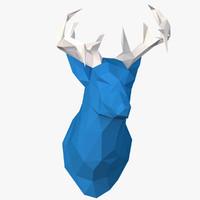 deer head paper 3d model