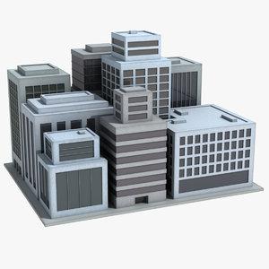 simple city 3d model