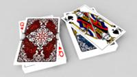 cards deck 3d fbx