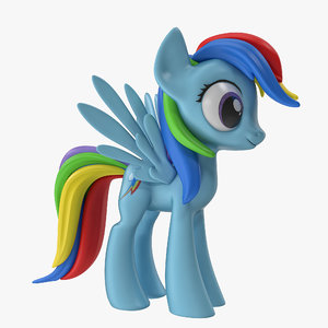 little pony rainbow dash 3d max