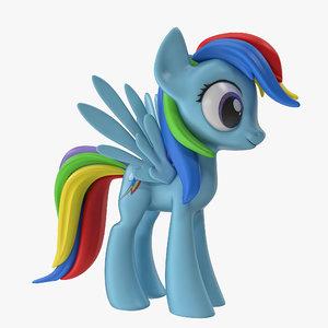 little pony rainbow dash 3d max