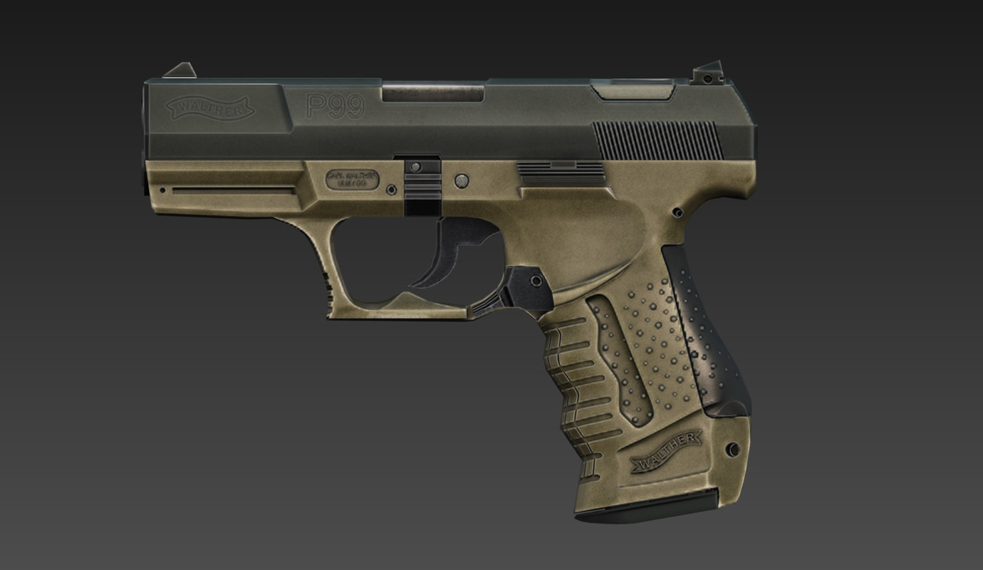 3d walther p99 - mesh model