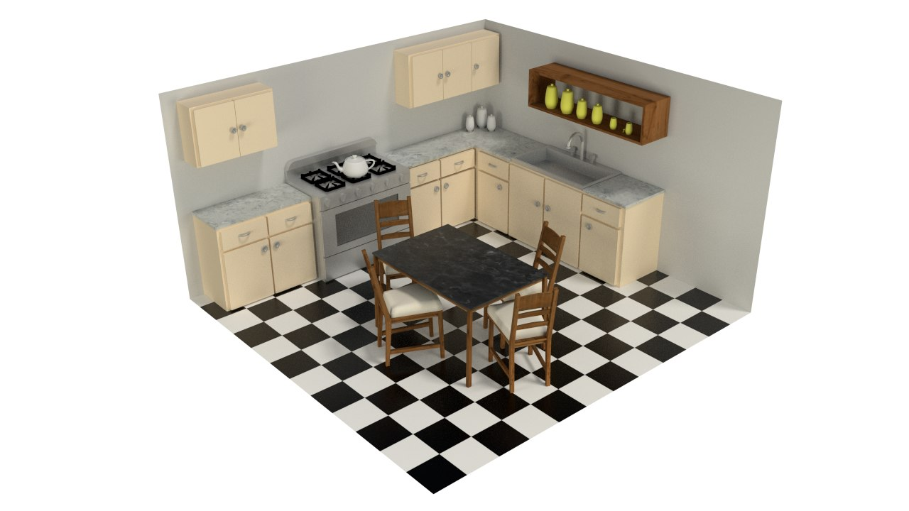 kitchen design 3ds