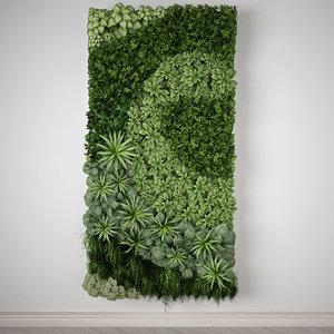3d model vertical garden meters modul