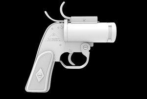 3d model an-m8 flare gun