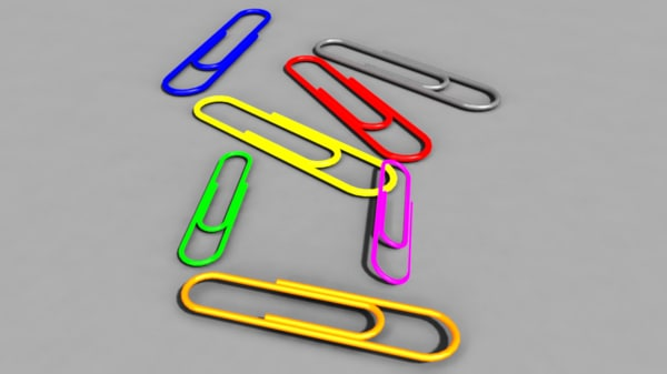 3d model paperclip modelled
