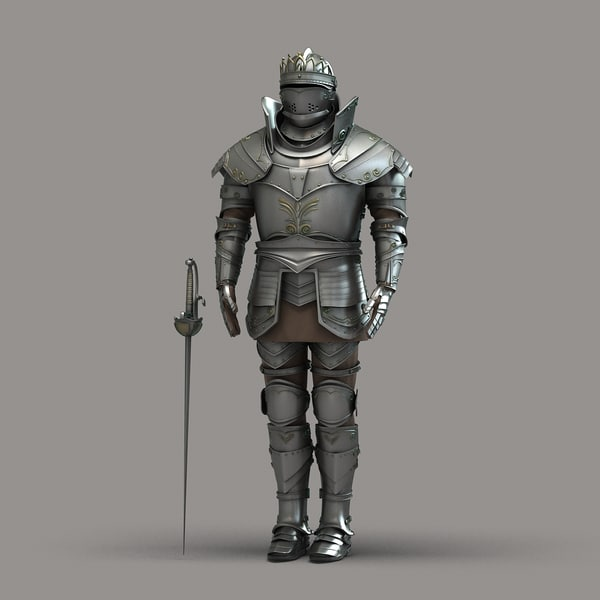 3d max knight armor