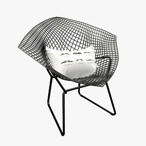 3d bertoia diamond chair design model