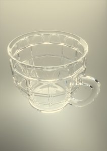 punch cup glassware obj