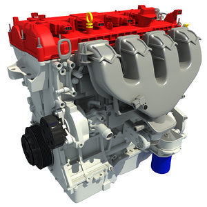 3d model turbo engine