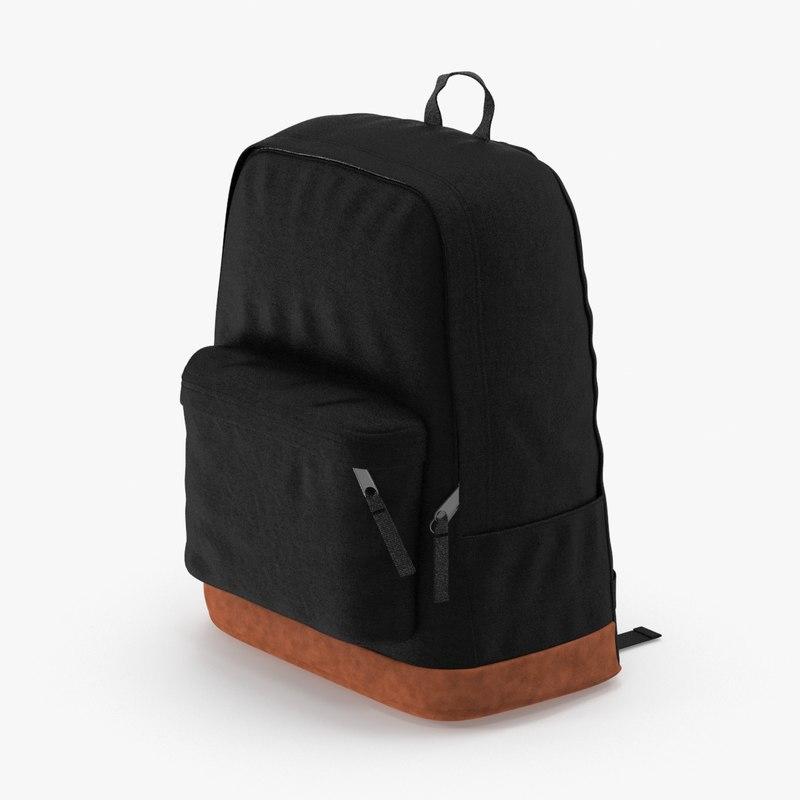 3d model backpack black