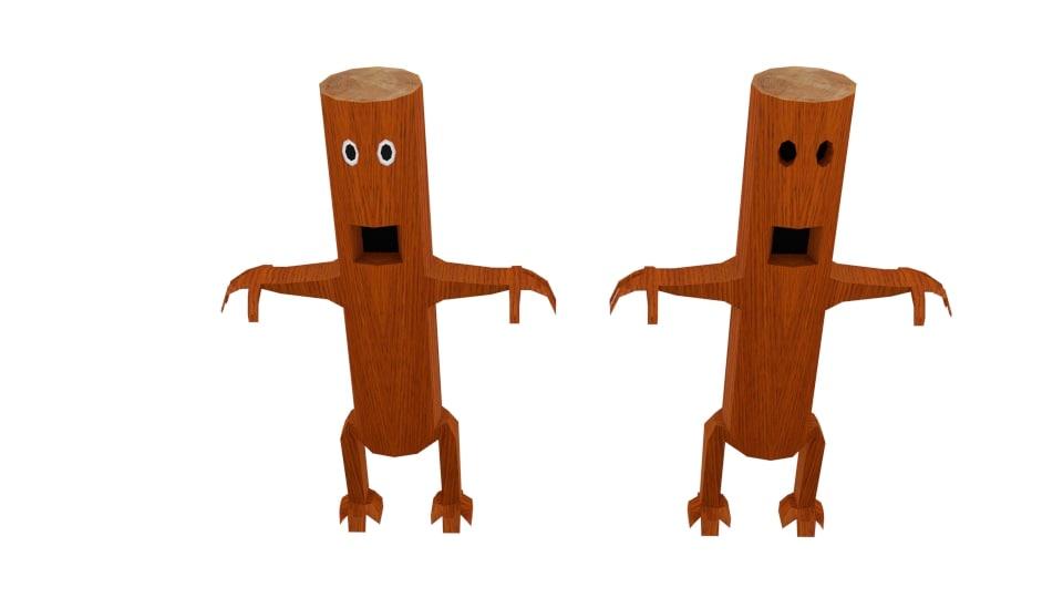 monster log character obj