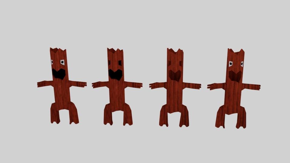 3d monster willow character model