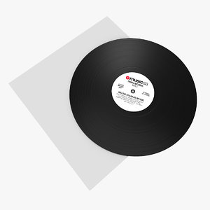 3d model vinyl disc