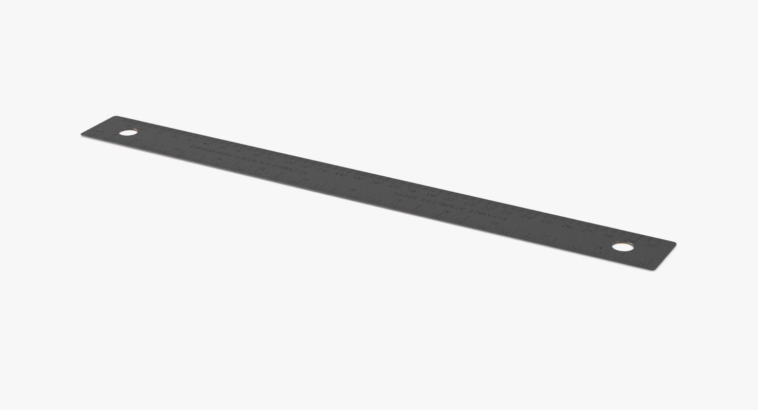 metal ruler 3d model