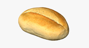 3d model bread roll
